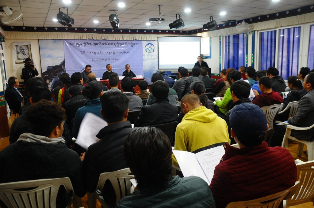 Tibet Policy Institute holds Tibetan language conference on February 21, 2016 at Lhakpa Tsering Hall, Dharamshala