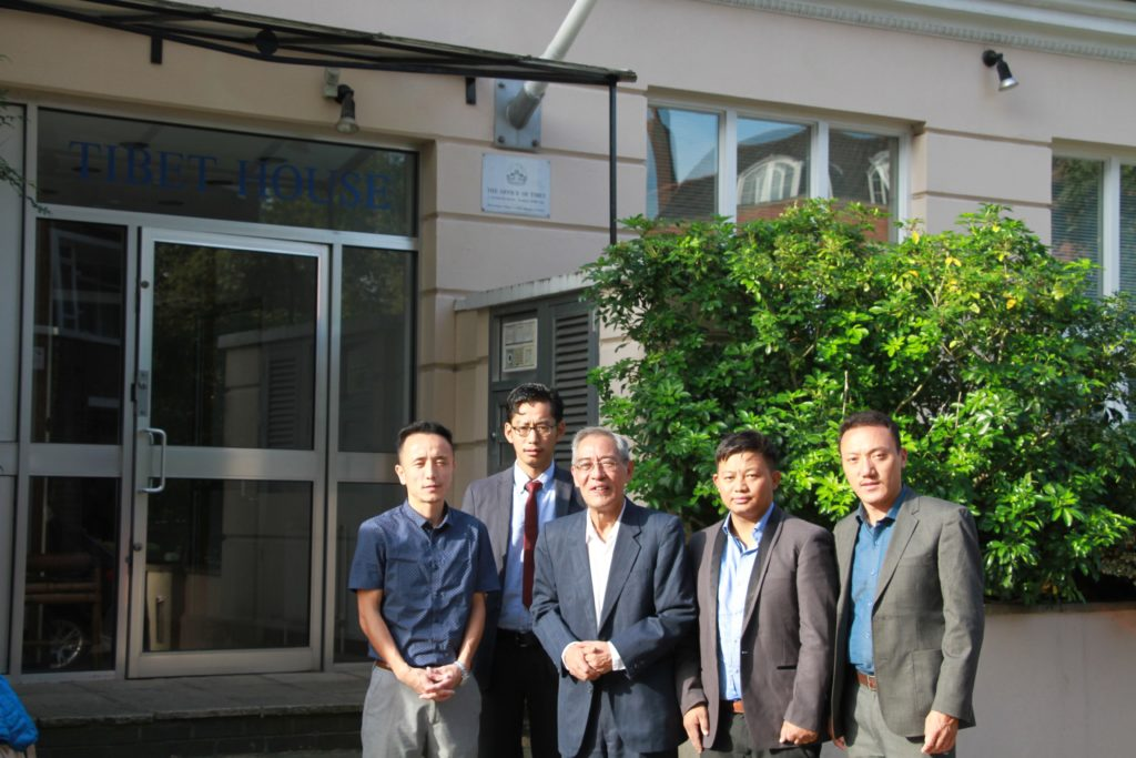 From left: Tenzin Tseten, Researcher, Tenzin Tsultrim, Researcher, Thubten Samphel, Director, Tenzin Dalha, Researcher and Tempa Gyaltsen, Researcher