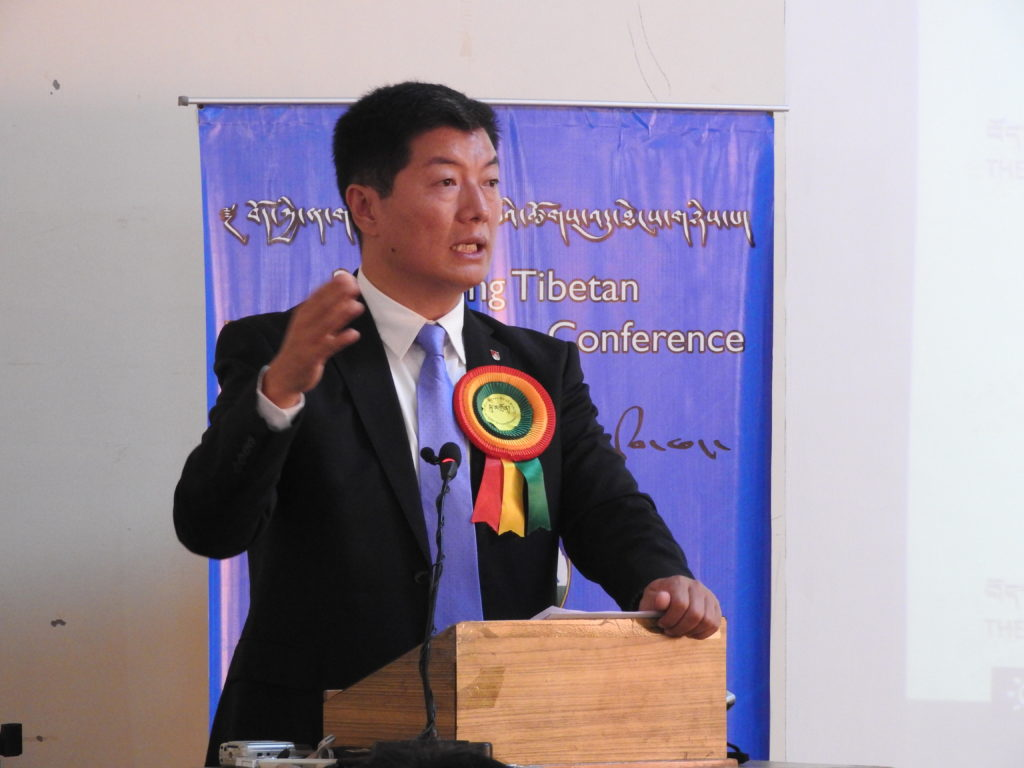 Sikyong Dr Lobsang Sangay delivering the inaugural address at the 2nd Young Tibetan Research Scholars Conference held from October 18-20, 2016 near Dharamshala