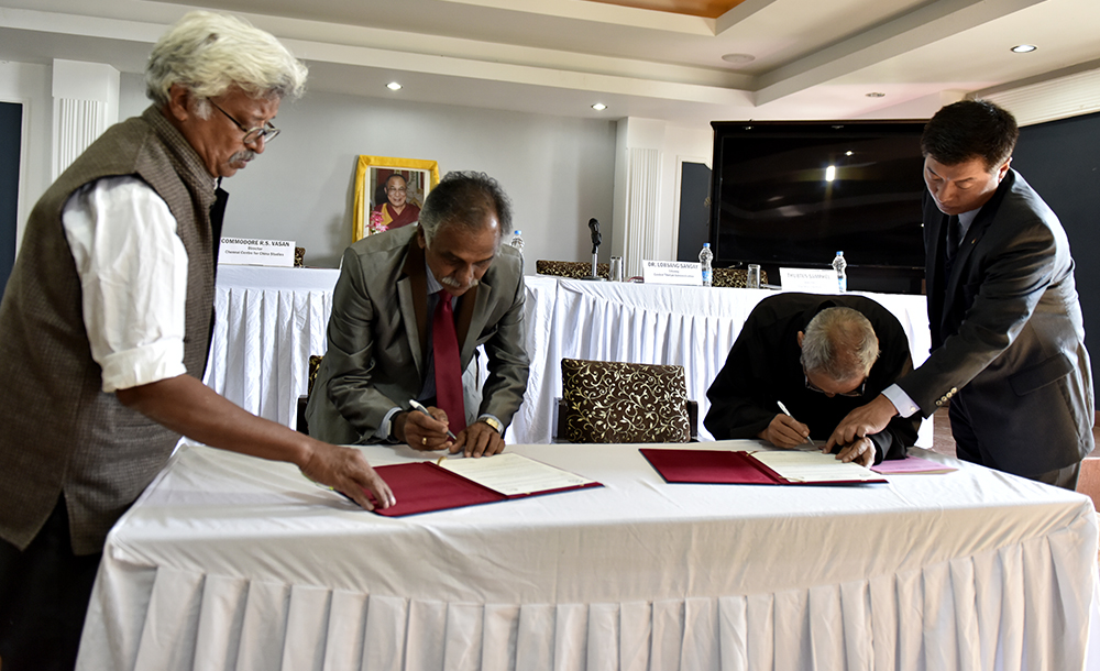 First Ever Memorandum of Understanding Signed Between Tibet Policy Institute and Chennai Center for China Studies